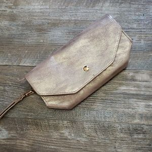 Adorable metallic wristlet